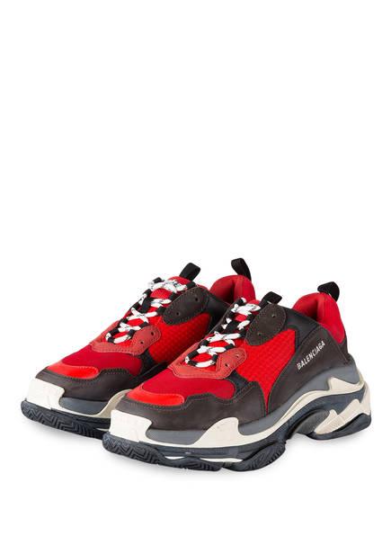 BALENCIAGA Sneaker TRIPLE S, Farbe: ROT/ SCHWARZ/ GRAU (Bild 1)