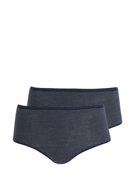 SCHIESSER 2er-Pack Panties, Farbe: DUNKELBLAU/ WEISS (Bild 1)