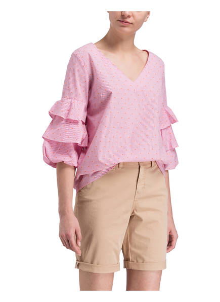 Harbour Volants Bluse Pink Mit Gestreift Darling Weiss qdBFTwH