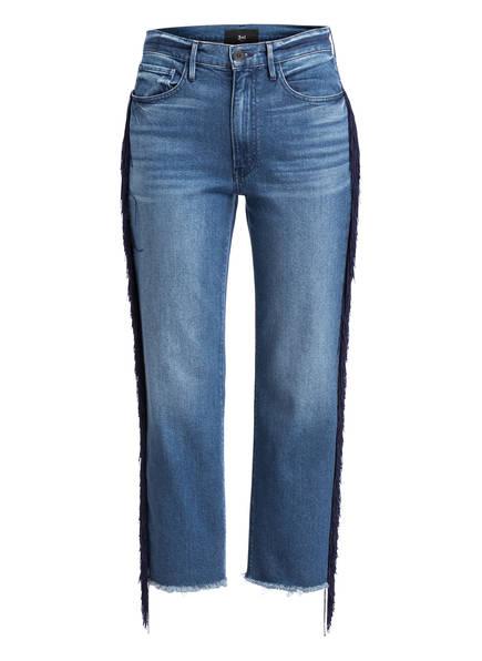 3x1 7/8-Jeans W3 mit Fransen, Farbe: SPANISH FRINGE BLAU (Bild 1)