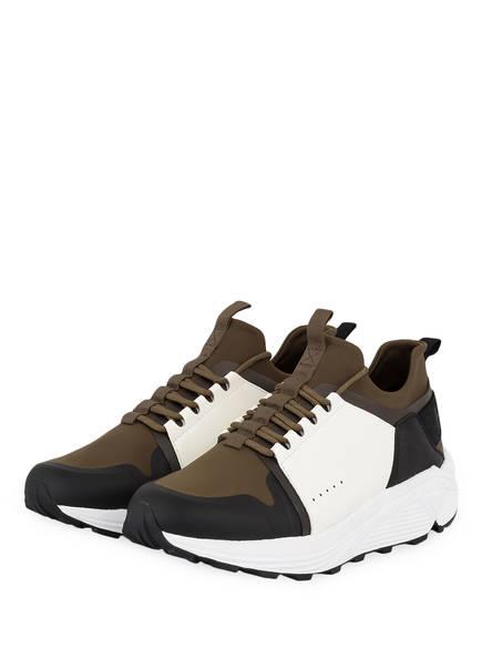HUGO Sneaker HORIZON_RUNN, Farbe: OLIV/ WEISS (Bild 1)