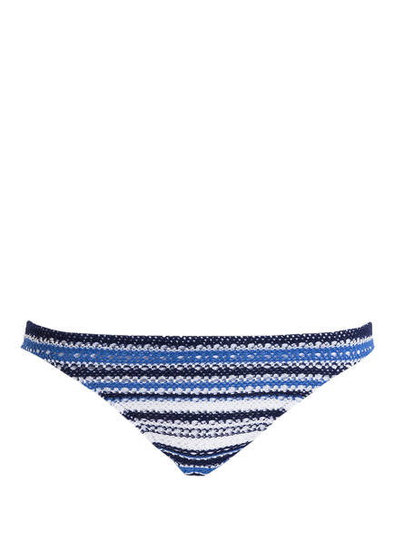 POLO RALPH LAUREN Bikini-Hose in Häkel-Optik, Farbe: DUNKELBLAU/ WEISS GESTREIFT (Bild 1)