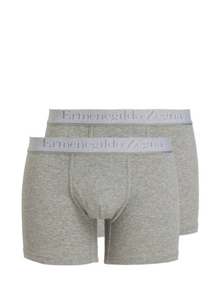 Ermenegildo Zegna 2er-Pack Boxershorts, Farbe: GRAU MELIERT (Bild 1)
