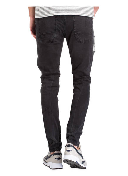 Cloud Tapered jeans denim Destroyed Fit Ayden Er Black Destroyed npTH711B