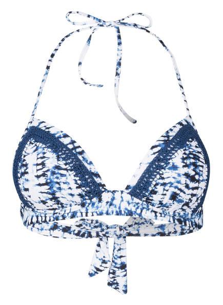 watercult Push-up-Bikini-Top BATIK TWIST, Farbe: BLAU/ WEISS (Bild 1)