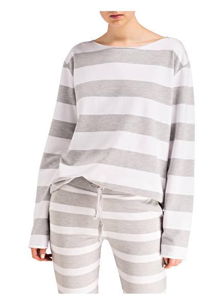 Weiss Juvia Sweatshirt Juvia Gestreift Grau Sweatshirt qxRw6nx