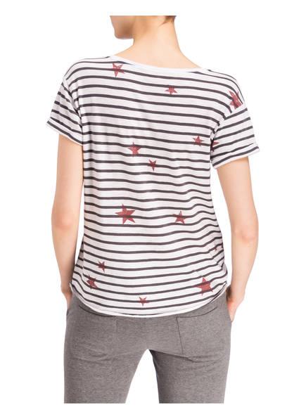 Weiss shirt T Dunkelgrau Dunkelrot Juvia xwvYPqnHv