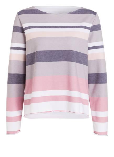 Juvia Sweatshirt, Farbe: TAUPE/ ROSÉ/ GRAU GESTREIFT (Bild 1)