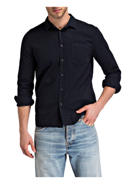 Regular Navy Henry Hemd Jeans Fit Nudie nUYWtx