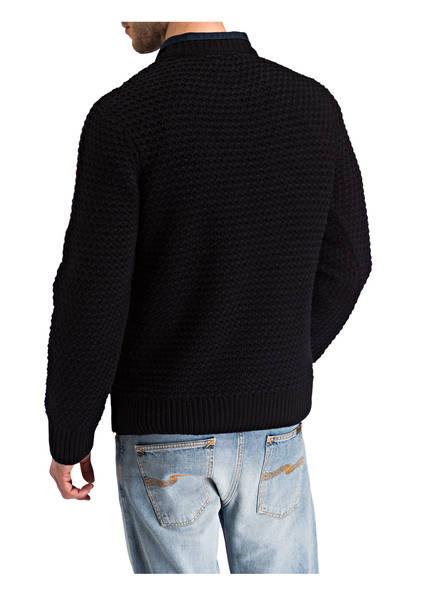 Schwarz Nudie Navy Jeans Grobstrickpullover Hampus pCCx6wHUq