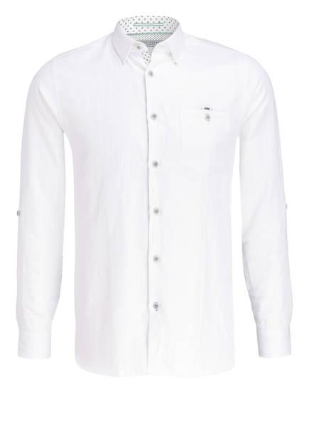 TED BAKER Hemd JAAMES Slim Fit mit Leinenanteil, Farbe: WEISS (Bild 1)