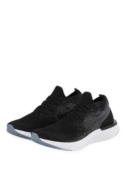 Nike Laufschuhe Epic React Flyknit schwarz