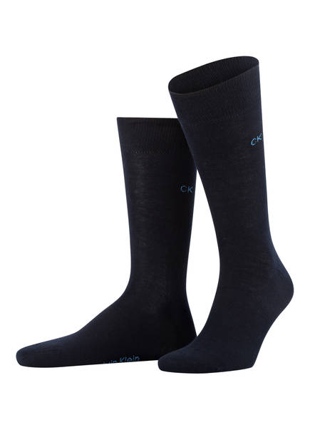 Calvin Klein 3er-Pack Socken, Farbe: DUNKELBLAU/ HELLBLAU/ GRAU (Bild 1)