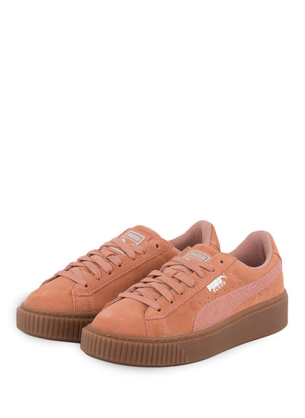 PUMA Sneaker BASKET PLATFORM ANIMAL, Farbe: LACHS (Bild 1)