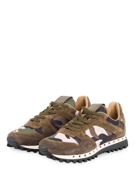VALENTINO GARAVANI Sneaker RUNNING STUDDED CAMOUFLAGE, Farbe: GRÜN/ BEIGE (Bild 1)