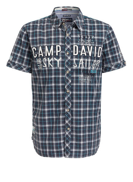 Camp Regular Fit hemd Dunkelblau David Halbarm qg7wq8xUF