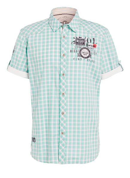 CAMP DAVID Halbarm-Hemd Regular Fit, Farbe: WEISS/ MINT KARIERT (Bild 1)