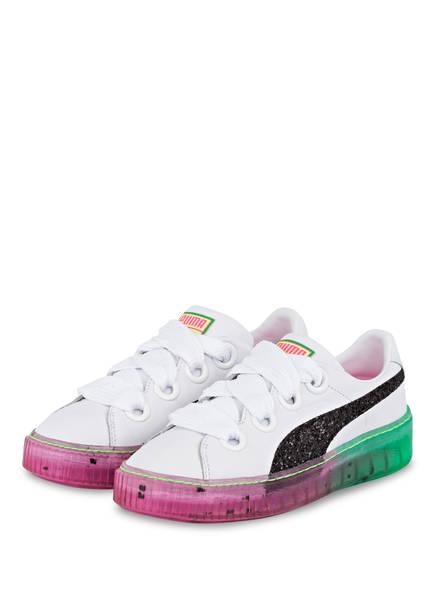 PUMA Sneaker CANDY PRINCESS , Farbe: WEISS/ PINK/ GRÜN (Bild 1)