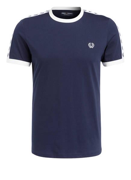 FRED PERRY T-Shirt RINGER, Farbe: DUNKELBLAU (Bild 1)