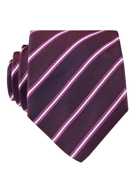 BOSS Krawatte, Farbe: DUNKELLILA/ ROSA/ LILA GESTREIFT (Bild 1)