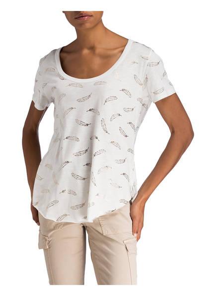 Catwalk Junkie Dreamy Feathers Weiss shirt T OqwTqA4n