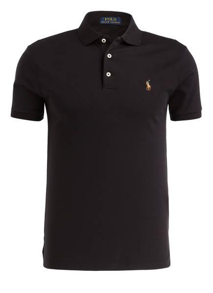 POLO RALPH LAUREN Jersey-Poloshirt Slim Fit, Farbe: SCHWARZ (Bild 1)