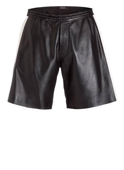 DSQUARED2 Shorts aus Leder, Farbe: SCHWARZ/ WEISS (Bild 1)