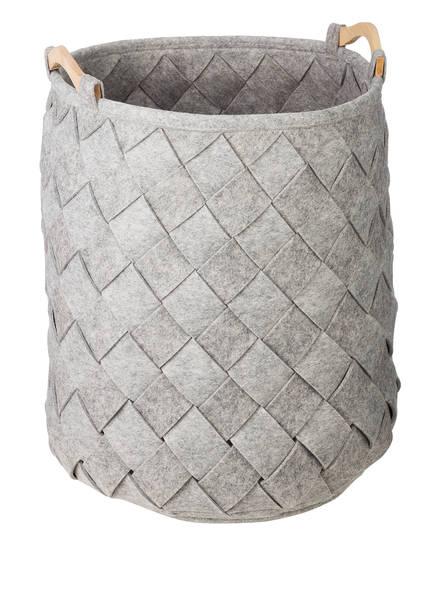 AQUANOVA Wäschekorb AMY LARGE, Farbe: GRAU MELIERT (Bild 1)