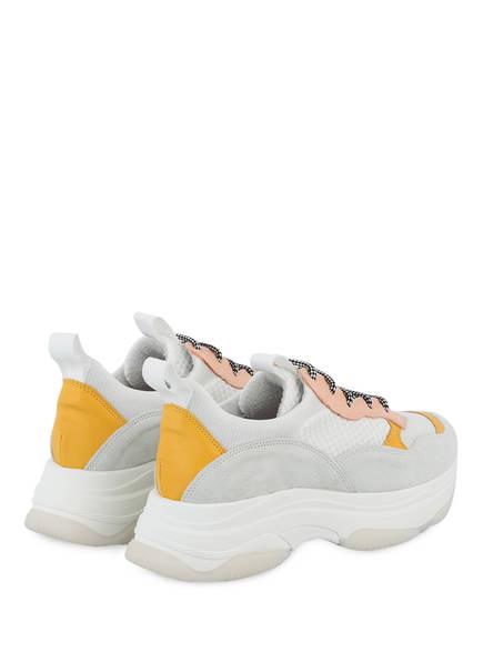 Hellgrau Gio Plateau sneaker gelb Weiss Lachs RfnwfzF