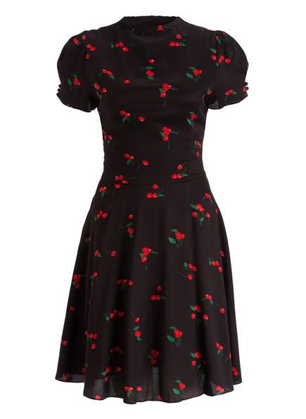 Ralph lauren kleid schwarz rot