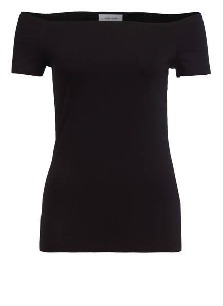 SAMSØE & SAMSØE Off-Shoulder-Shirt NANA, Farbe: SCHWARZ (Bild 1)