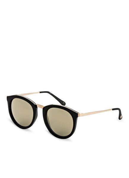 Le Specs Sonnenbrille NO SMIRKING, Farbe: SCHWARZ/ GOLD VERSPIEGELT (Bild 1)