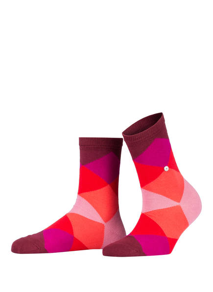 Burlington Socken BONNIE, Farbe: 8138 SHADOW RED (Bild 1)