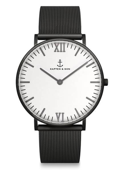 KAPTEN & SON Armbanduhr CAMPUS, Farbe: SCHWARZ/ WEISS (Bild 1)