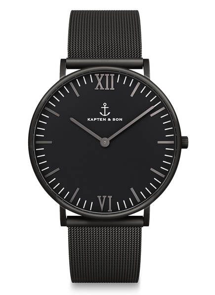 KAPTEN & SON Armbanduhr CAMPUS, Farbe: SCHWARZ  (Bild 1)