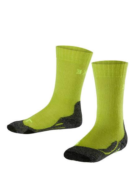 FALKE Trekking-Socken TK2, Farbe: LIMETTE/ SCHWARZ (Bild 1)