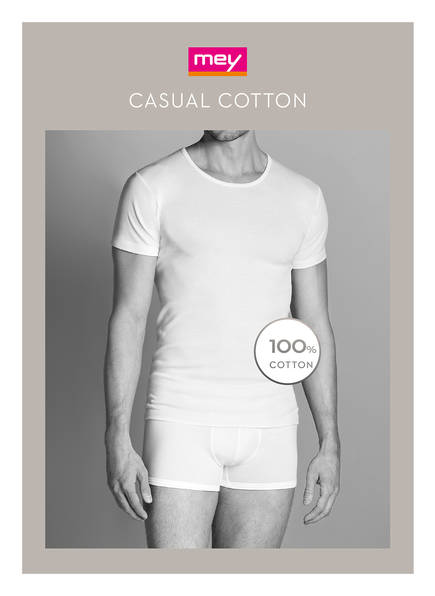 Cotton Weiss shirt Casual Mey T t0FRqwp