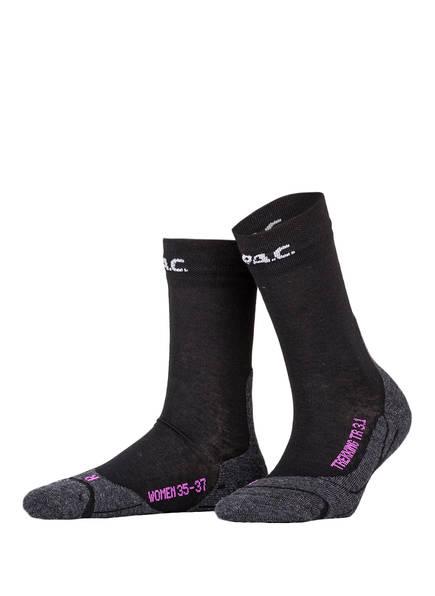 P.A.C. Trekking-Socken TR 3.1 LIGHT , Farbe: 200 BLACK (Bild 1)