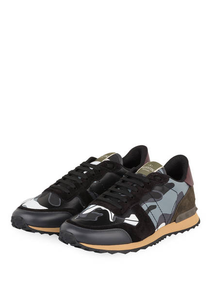 VALENTINO GARAVANI Sneaker ROCKRUNNER CAMOUFLAGE, Farbe: GRAU/ SCHWARZ/ WEISS (Bild 1)
