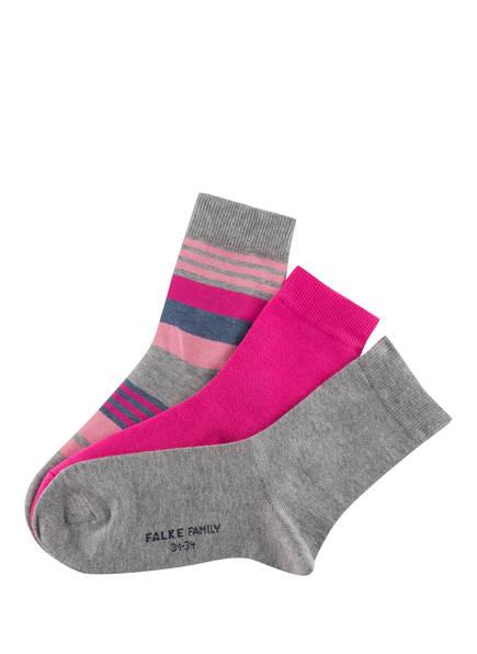 FALKE 3er-Pack Socken, Farbe: GRAU/ PINK/ BLAUGRAU  (Bild 1)
