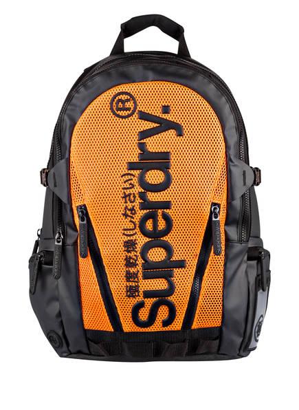 Superdry Rucksack, Farbe: SCHWARZ/ ORANGE (Bild 1)