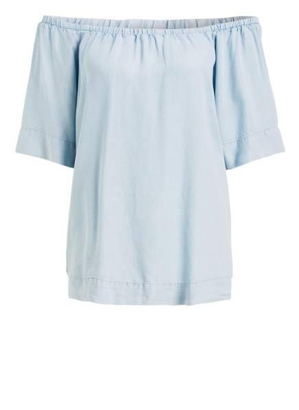 FREEQUENT Off-Shoulder-Bluse ALLIE, Farbe: HELLBLAU (Bild 1)