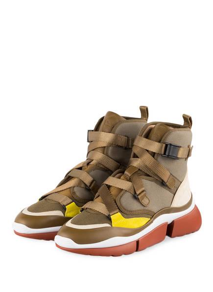 Chloé Sneaker SONNIE HIGH, Farbe: KHAKI (Bild 1)