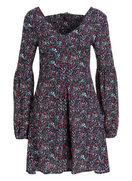 Kleid dunkelblau rot