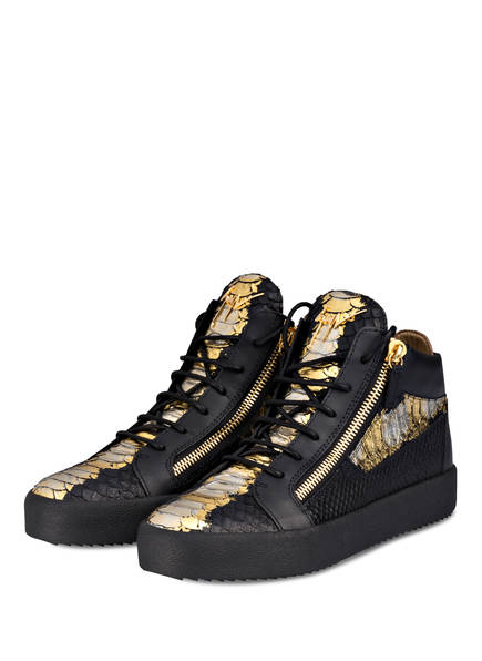 GIUSEPPE ZANOTTI DESIGN Hightop-Sneaker, Farbe: SCHWARZ/ GOLD/ SILBER (Bild 1)