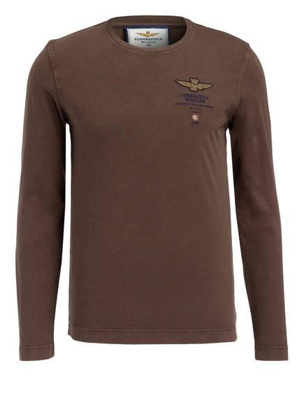 AERONAUTICA MILITARE Langarmshirt, Farbe: BRAUN (Bild 1)