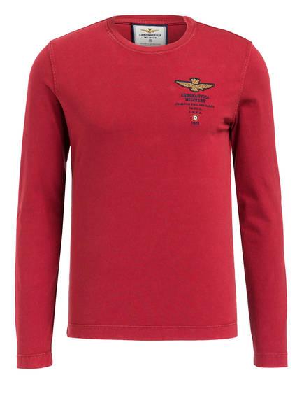 AERONAUTICA MILITARE Langarmshirt, Farbe: ROT (Bild 1)