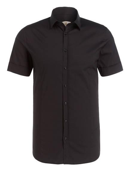 Q1 Manufaktur Halbarm-Hemd INGO Slim Fit, Farbe: SCHWARZ (Bild 1)