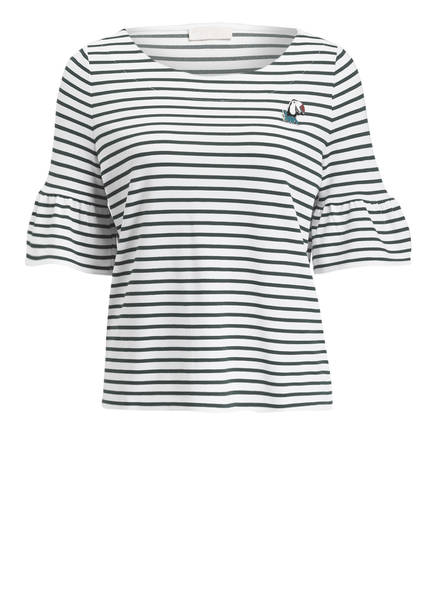 talkabout T-Shirt , Farbe: WEISS/ DUNKELGRÜN GESTREIFT (Bild 1)