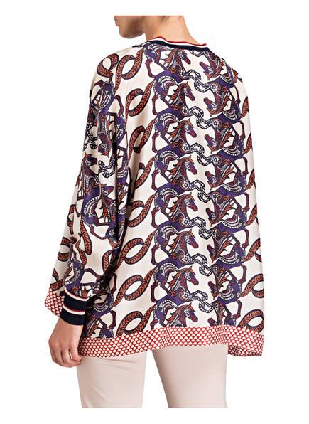 Offwhite Ivi Collection Oversized Dunkellila bluse Orange Aus Seide AwwXcrWqU